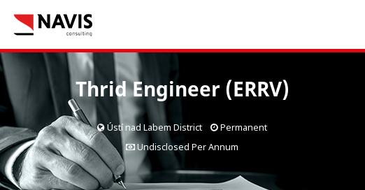 Thrid Engineer (ERRV) - Navis Consulting